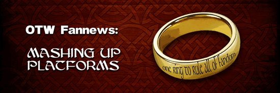 Banner by ElenaWho of a golden ring with the inscription 'One ring to rule all of fandom'