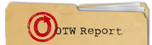 Banner by Ania of a manila file folder with the words 'OTW Report'