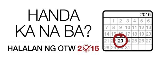 Halalan ng OTW 2016: handa ka na ba? Buwanang kalendaryo para sa 2016 na may palatandaan sa ika-23.