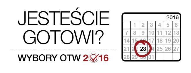 Wybory OTW 2016: Jesteście gotowi? Miesięczny kalendarz 2016 roku, z zaznaczonym 23 dniem.