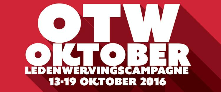 OTW Oktober Ledenwervingscampagne - 13-19 oktober 2016
