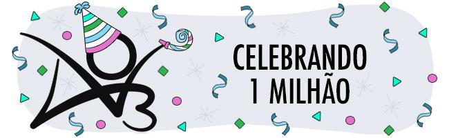 Celebração de um milhão de pessoas utilizadoras