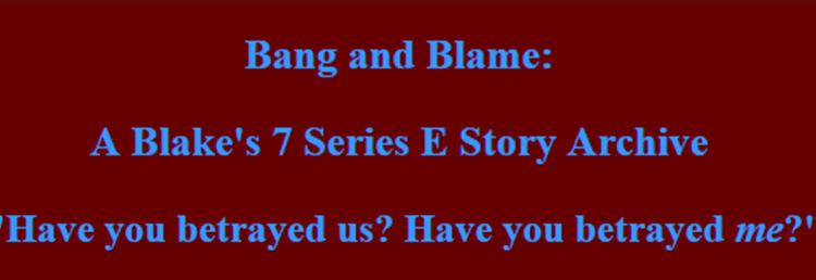 Bang and Blame site banner