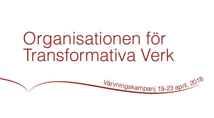 Medlemsvärvningskampanj för Organisationen för Transformativa Verk, 19-23 april 2018
