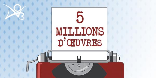 5 millions d'œuvres de fans
