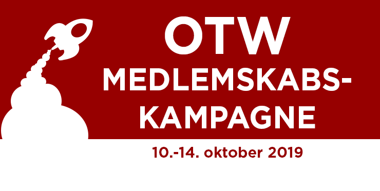 Organisationen for Transformative Værker Medlemskabskampagne, 10.-14. oktober 2019