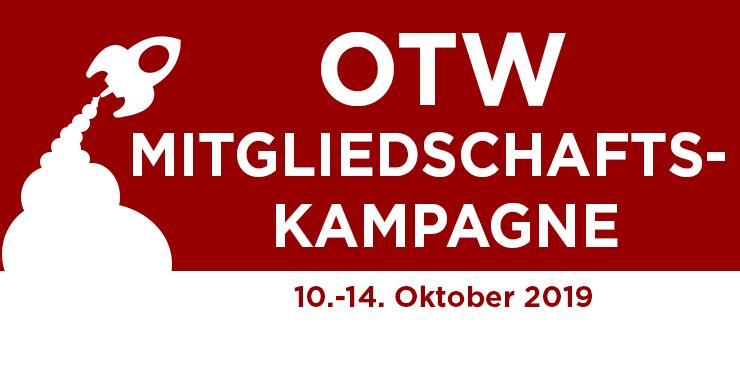 Organization for Transformative Works (Organisation für Transformative Werke) Mitgliedschaftskampagne, 10.-14. Oktober 2019