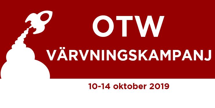 Värvningskampanj för Organisationen för Transformativa Verk, 10-14 oktober 2019