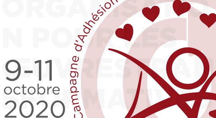 Campagne d'Adhésion de l'Organisation pour les Œuvres Transformatives, du 9 au 11 octobre 2020