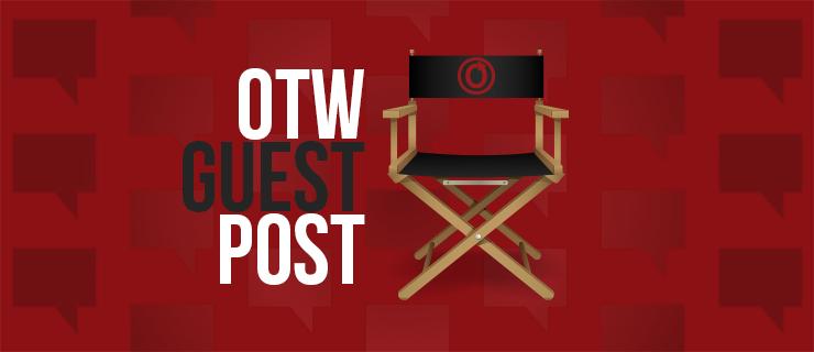 Uma cadeira de direção de cinema com a logo da OTW e as palavras OTW Guest Post