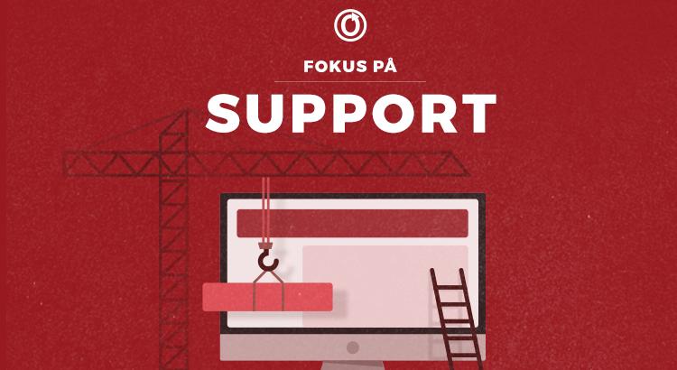 Support i rampelyset