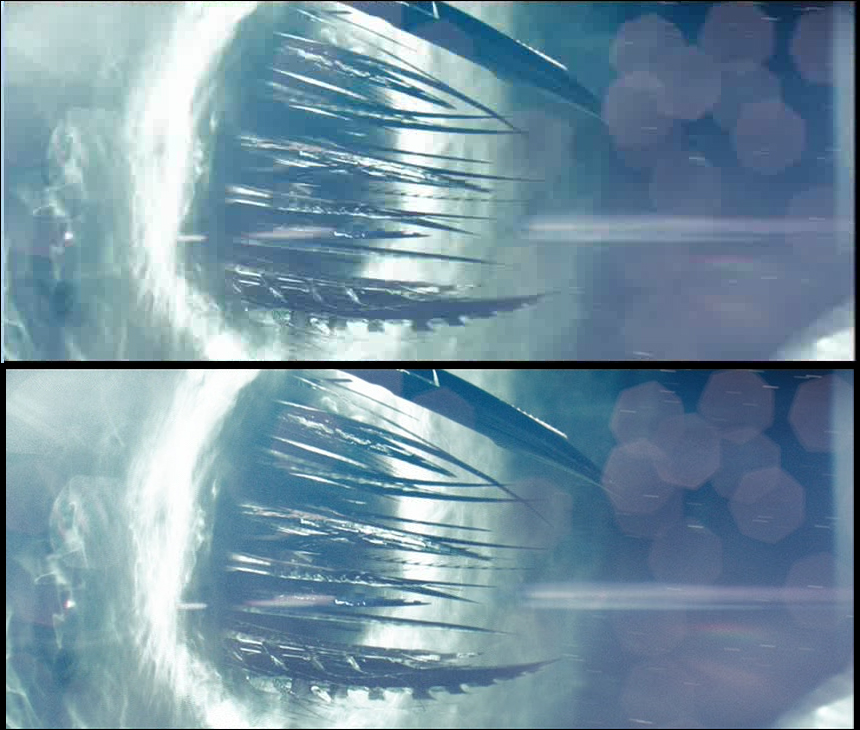 Image D: The Narada; top image captured, lower image ripped.