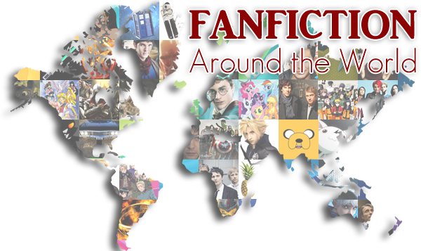 Map of the world with pictures of fandom