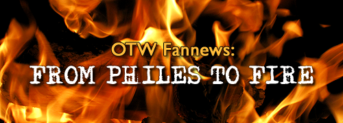 Background flames with text saying From Philes to Fire