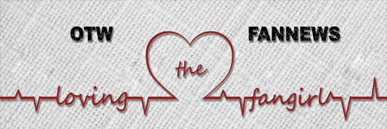 Banner by Elena Who of a heart monitor line in a heart shape reading 'Loving the Fangirl'