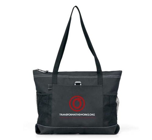 OTW Black Zippered Tote