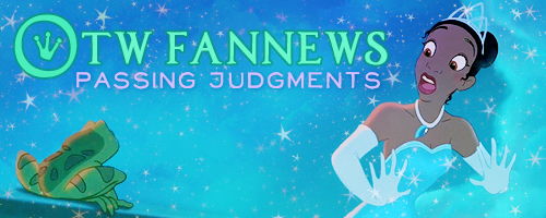 Banner by caitie of Princess Tiana looking in shock at a frog