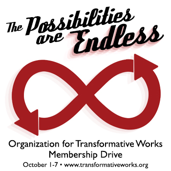Banner by caitied with a red infinity sign with arrows and the title 'The Possibilities are Endless'