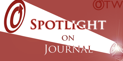 Banner by Ania of a spotlight on an OTW logo with the words 'Spotlight on on Journal'