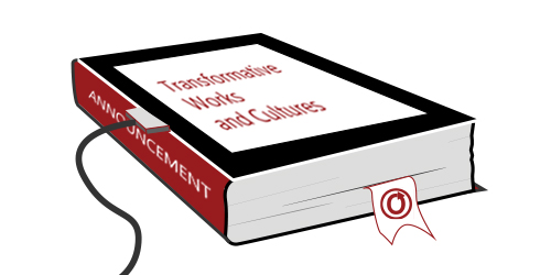Banner by Alice of a book/eReader with an OTW bookmark and a USB plug going into the spine