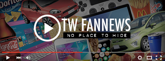 a background image of many products from famous consumer brands, with icons suggesting a video player over the top of them all and the words OTW Fannews No Place to Hide next to the play button