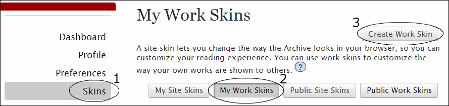 My Work Skins Page