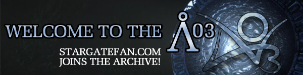 Banner by Diane saying 'Welcome to the AO3: Stargatefan joins the archive!' with the stargate serving as the O in AO3