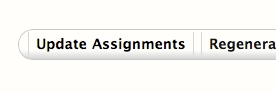 White button with black text titled Update Assignments